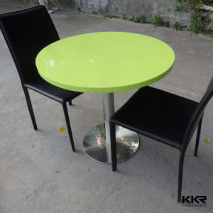 2017 High Quality Solid Surface Stone Dining Table pictures & photos