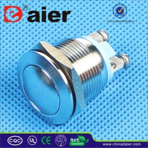 Waterproof Metal Dome Momentary Push Button Switch (PBS-28B) pictures & photos