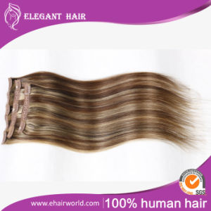 "European Remy Hair Clip-in Hair Extensions 20"" 8PCS Set pictures & photos"