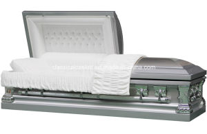 Jeff Silver Stainless Casket for USA Market pictures & photos