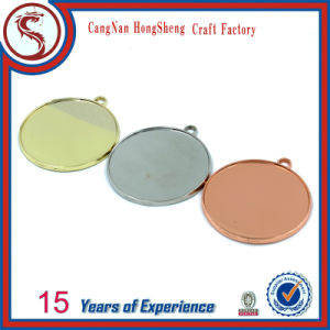 Customized Gold Silver Copper Plated Weight Lifting Blank Medallion pictures & photos