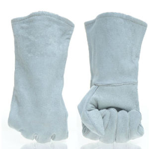 Cow Split Leather Welding Gloves with Ce En12477 pictures & photos