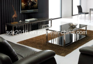 TV Stand / Living Room Furniture / Stainless Steel Table / Home Furniture / Modern Table / Glass Table / Tempered Glass Table Dg010 pictures & photos