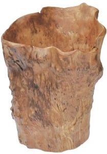 Natural Color #2300 Handly Carved Wooden Fir Root Tall Bowl