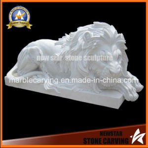 Stone Statue Animal Sculpture Marble Lion for Home Dcoration pictures & photos