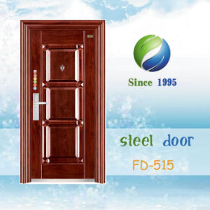 China Newest Develop and Design Single Steel Security Door (FD-515) pictures & photos