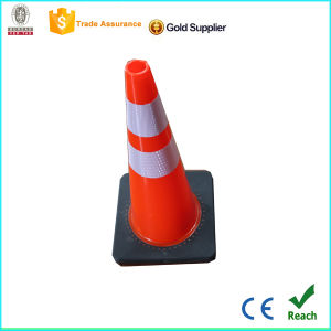 Ce Certificate Flexible Durable Anti UV 28′′pvc Traffic Road Safety Cone pictures & photos