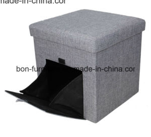 Linen Material Pet House Folding Storage Stool pictures & photos