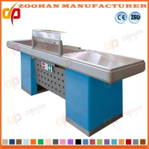 Shop Supermarket Money Cashier Checkout Counters with Conveyor Belt (Zhc17) pictures & photos
