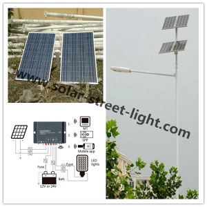 60W Double Solar Panel LED Street Light for Outdoor Lighting pictures & photos