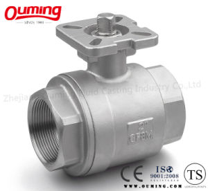 Thread Ball Valve with Mounting Pad (2PCS) pictures & photos