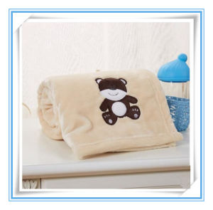 Super Soft Minky Flannel Embroidered Baby Blanket pictures & photos