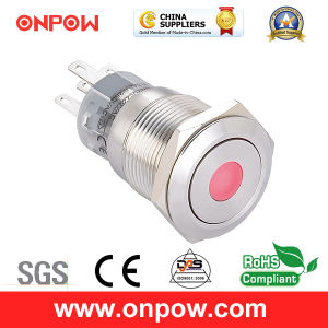 Onpow 19mm Push Button Switch (LAS1-AGQ-11D/G/12V/S, CE, UL, CCC, RoHS) pictures & photos