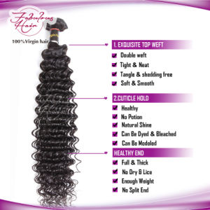 Deep Wave 100% Virgin Brazilian Human Hair Bundles pictures & photos