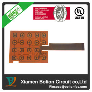 Double-Sided Flexible PCB with Steel Stiffener, Applied in Key Press pictures & photos