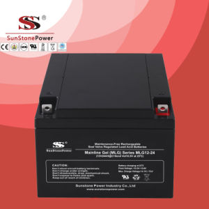 Lead Acid Deep Cycle Rechargeable Battery 12V 24ah pictures & photos