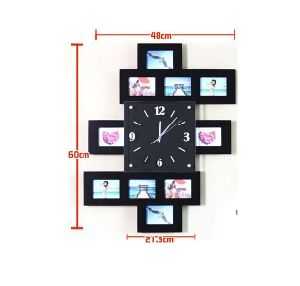 Wooden Decorative Wall Clock Creative Picture Frame Mute Electronic Clock Gifts pictures & photos