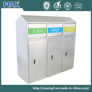Durable Stainless Steel Flameproof Recycle Waste Bin for Street pictures & photos