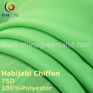 75D Polyester Chiffon Habijabi Fabric for Garment Dress (GLLML235) pictures & photos