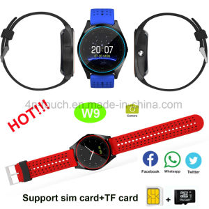 2017 Newest Bluetooth Smart Watch Phone for Promotion Gift W9 pictures & photos