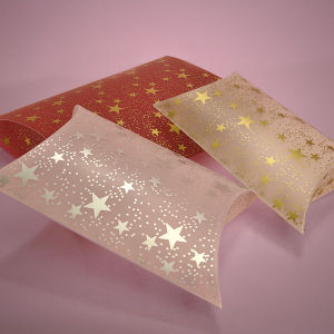 China Pillow Box with Clear Heart Window and Competitive Price ...