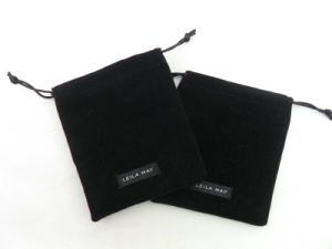 Hot Selling Simple Small Velvet Pouch Logo pictures & photos