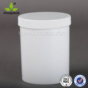 1L Wide Mouth White Plastic Bottle Container with Inner Cap Lid pictures & photos