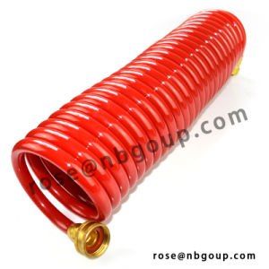 50FT Garden Coil Hose with Brass Connectors, PU, PVC, EVA Material pictures & photos