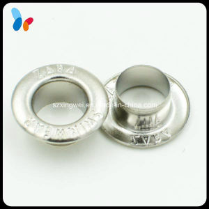 Custom Plating Silver Metal Brass Round Grommet Eyelet pictures & photos