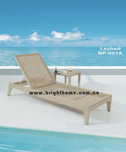 Flower Weaving Sun Lounge Rattan Wicker Beach Chair pictures & photos
