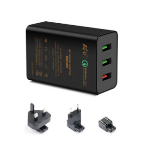 QC2.0+2.4A 42W 3 USB Charger - Qualcomm Quick Charge pictures & photos