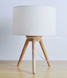 Simple Modern Tripod Bedside Lamp/Creative Solid Wood Table Lamp pictures & photos