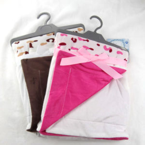 Printed and Solid Micro Mink Patchwork Baby Blanket P014 pictures & photos