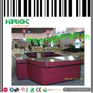 Double Side Supermarket Checkout Counter Stand on Sale pictures & photos