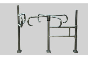 Cross Swing Gate, Supermarket Gate, Revolving Gate pictures & photos