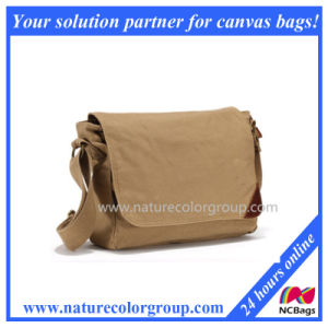 Leisure Cotton Canvas Messenger Bag Shoulder Bag for Man pictures & photos