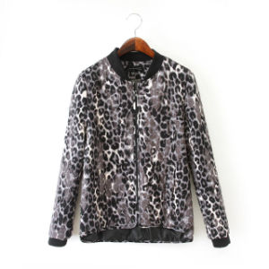 Wholesale High Quality Long Sleeve Leopard Print Bomer Jacket (JP-2015JK66) pictures & photos