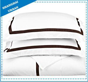Brown Hem 300tc Sateen Cotton Bedsheet pictures & photos