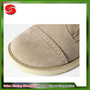 Anti-Splash Waterproof Genuine Leather Wearing-Resisting Panama Suede Desert Boot pictures & photos