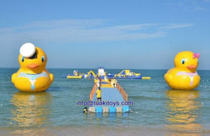 Double Inflatable Duck Ship for Fun (TK-048) pictures & photos