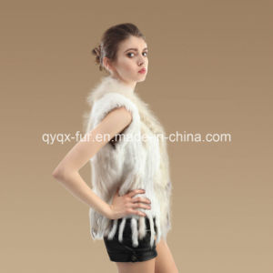 Multicolor Genuine Kintted Rabbit Fur Vest for Lady pictures & photos