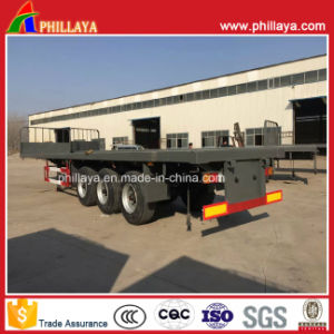 3 Axles Container Transport 40ft Flatbed Semi Trailer for Sale pictures & photos