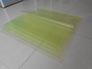 Polyurethane Sheet, PU Sheet with 100% Polyester Material with Clear Yellow, Black, Red, Brown, Blue, White, Green pictures & photos