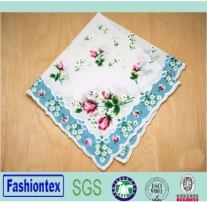 Wholesale Cotton Fancy Printed Ladies Hanky pictures & photos