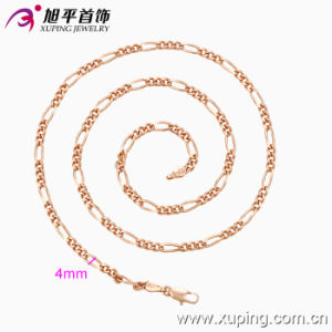 Xuping Fashion Rose Gold Color Primary-Secondary Necklace (42553) pictures & photos