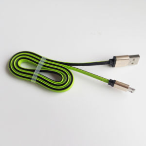 Flat USB Cable Data Communication Cable Double Side Color Cable pictures & photos