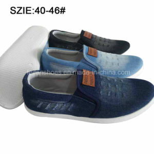 New Style Men′s Slip on Injection Casual Jean Shoes (MP16721-11) pictures & photos