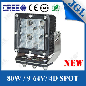 4D Plano Optic Lense 80W CREE LED Auto Working Light