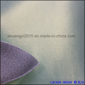 Colorful Shining Surface 1.2mm Microfiber Leather for Sofa pictures & photos