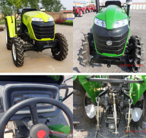 Hot Sale High Quality 50HP 4WD Garden Tractor From China with Imiplements Dic Plough/Loader/Trailer pictures & photos